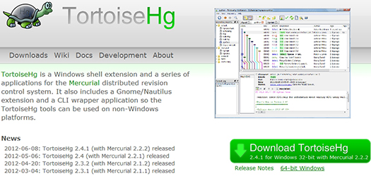TortoiseHg - Windows client for Mercurial.