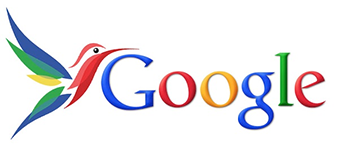 The official logo for Google Hummingbird, a massive update to Google's search algorithm.