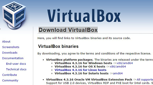Oracle VM VirtualBox.