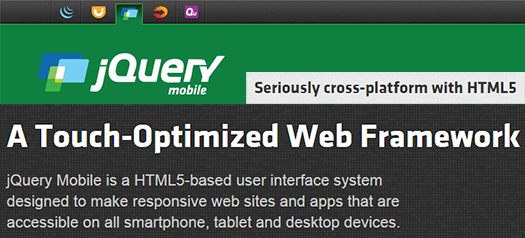 jQuery Mobile.