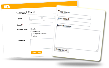 PHP Contact Form of the Nature of the iPhone Slider