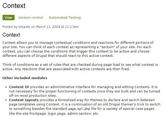 Context module.