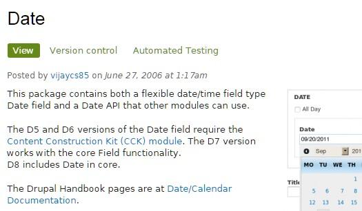 Date module.