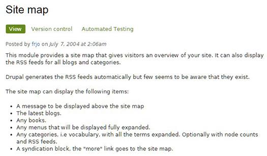 Site map module.