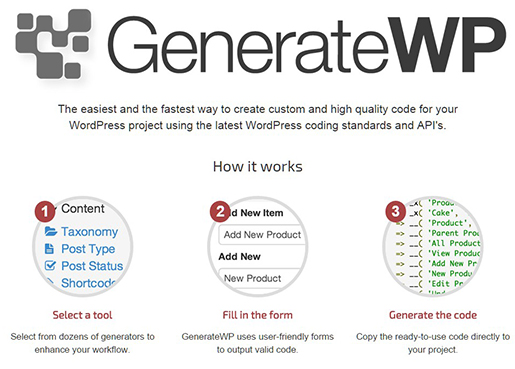 GenerateWP - Tools for WordPress developers.