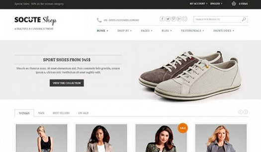 Socute - Multi-Purpose e-Commerce Theme.