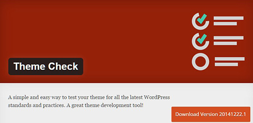 Theme Check - WordPress Plugin.