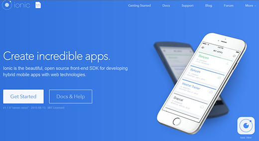 Ionic: Advanced HTML5 Hybrid Mobile App Framework.