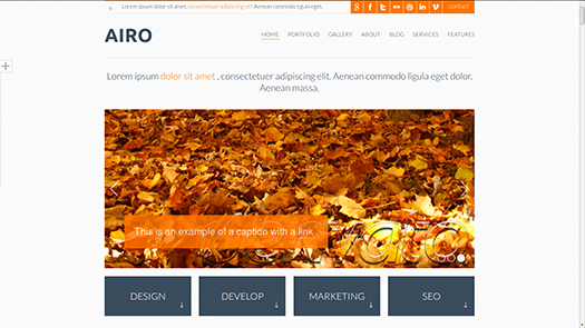 AIRO - Clean and Minimalist One Page Theme - WordPress.
