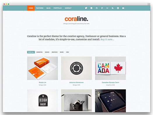 Coraline Ajax And Responsive WordPress Theme - WordPress.