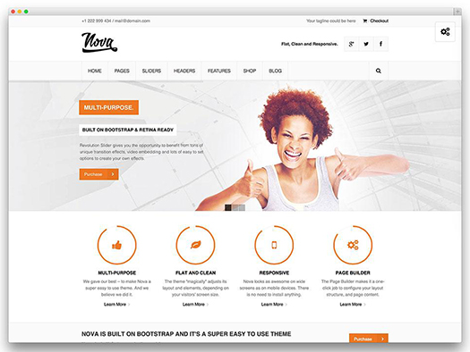 Nova - Flat & Clean Responsive Theme - WordPress.