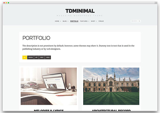 tdMinimal - Responsive WordPress Theme - WordPress.