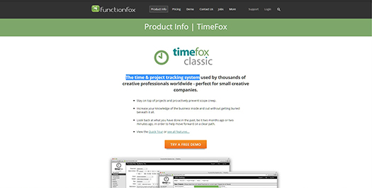 TimeFox - The time & project tracking system.