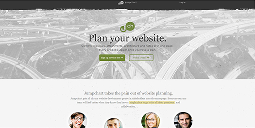 Jumpchart - Website Planning and Organization.