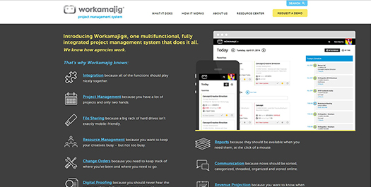 Workamajig Platinum - Project Management Software for the Creative Industry.