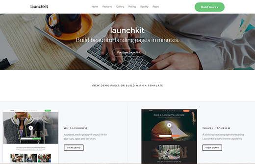 Launchkit Landing Page & Marketing WordPress Theme.