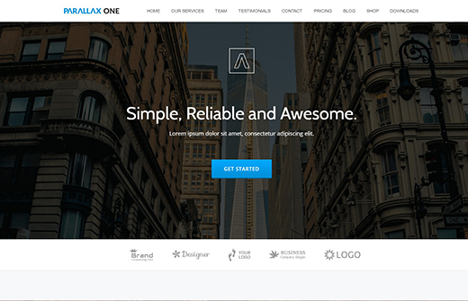 Free One Page WordPress Business Theme.