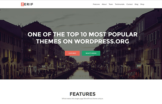 Zerif Lite: #1 Free One Page WordPress Theme.