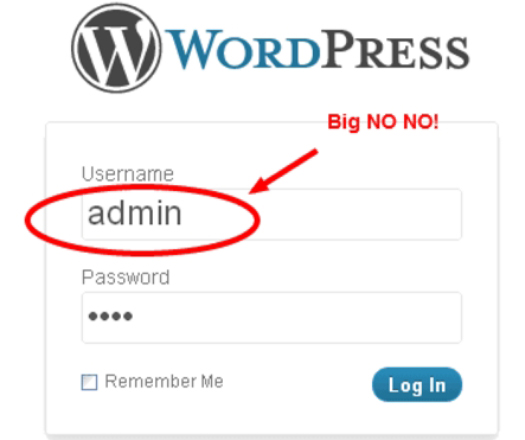 Default WordPress Username.