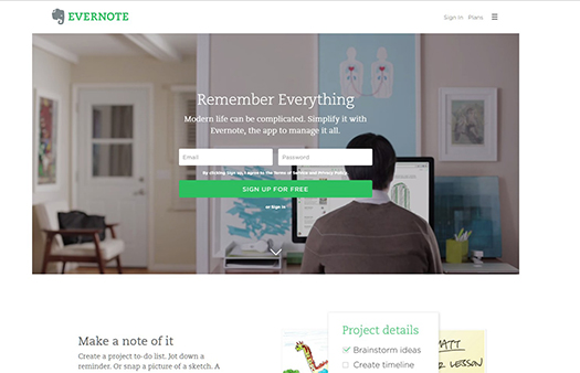 The note-taking space for your life's work | Evernote.