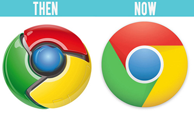 Google Logo Now and Then.