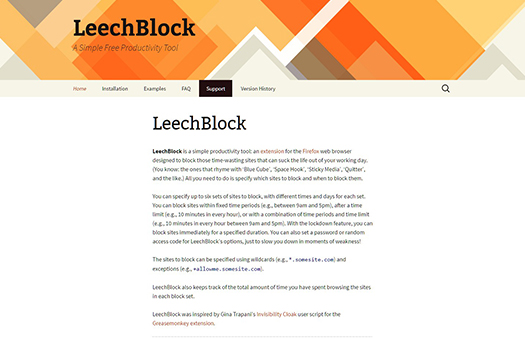 LeechBlock | A Simple Free Productivity Tool.
