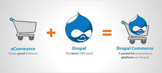 Drupal Commerce. Original image credit: drupalcamp.mk ; Modified by Boutros AbiChedid.